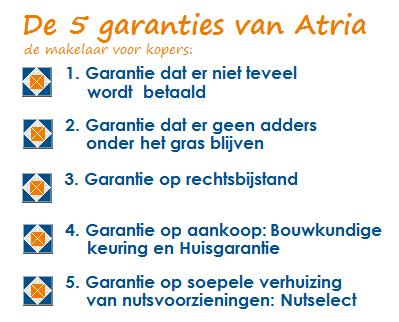 5 garanties van Atria