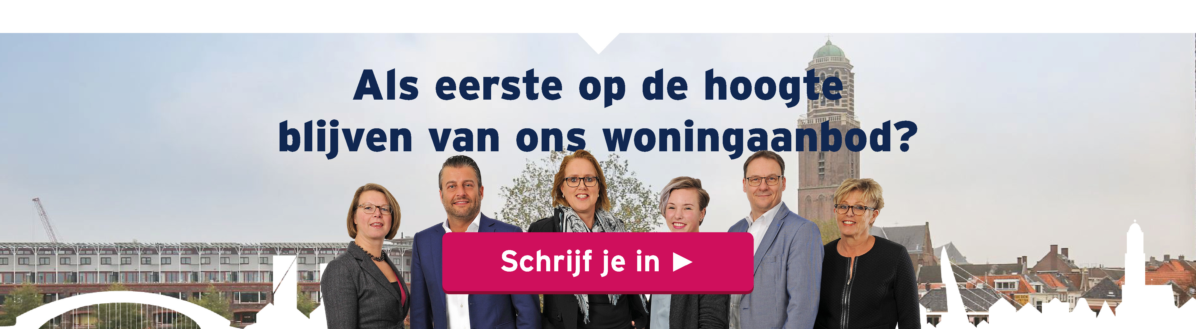 Op zoek naar een nieuwe woning in Zwolle? Schrijf je in voor onze gratis zoekopdracht