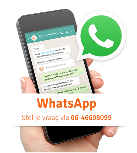 Whatsapp met Mercurius Makelaars - Deventer
