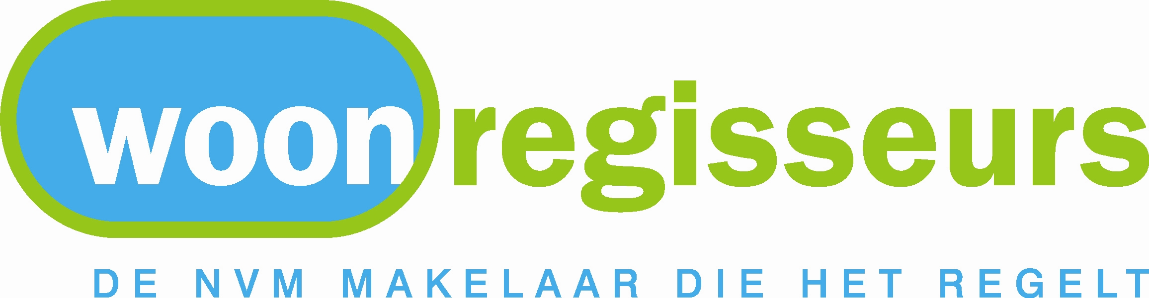 Logo Woonregisseurs makelaar Oss  NVM makelaars en woningmarketeers