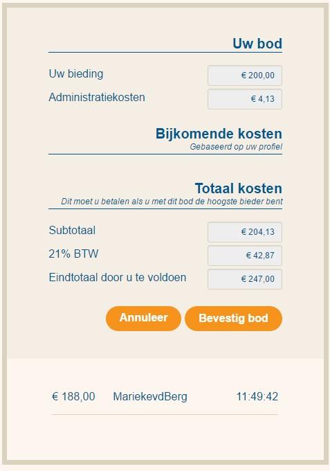 Taxatie kosten huis