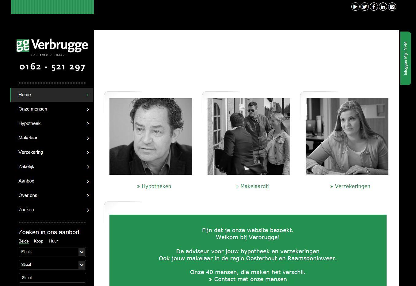 Nieuwe website verbrugge