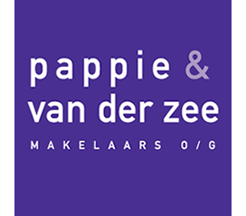 Logo Pappie & van der Zee MAKELAARS O/G
