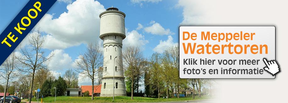 Klik hier voor informatie over de verkoop van de watertoren in Meppel