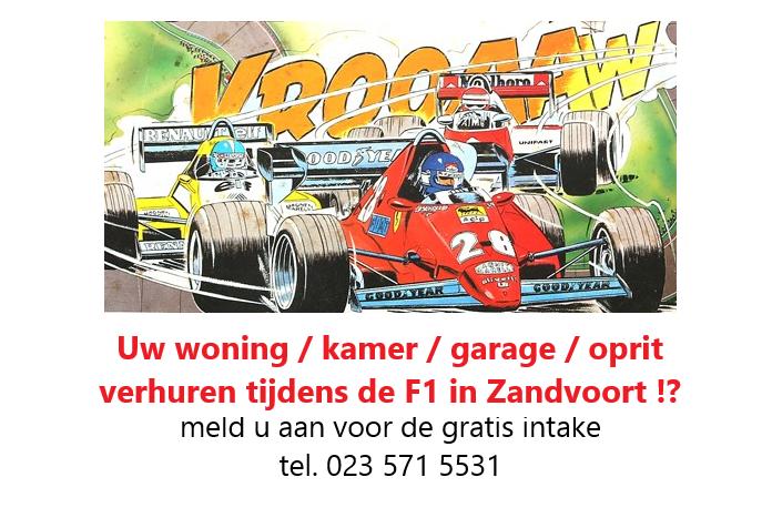 verblijf huis appartement huren Dutch Grand Prix F1