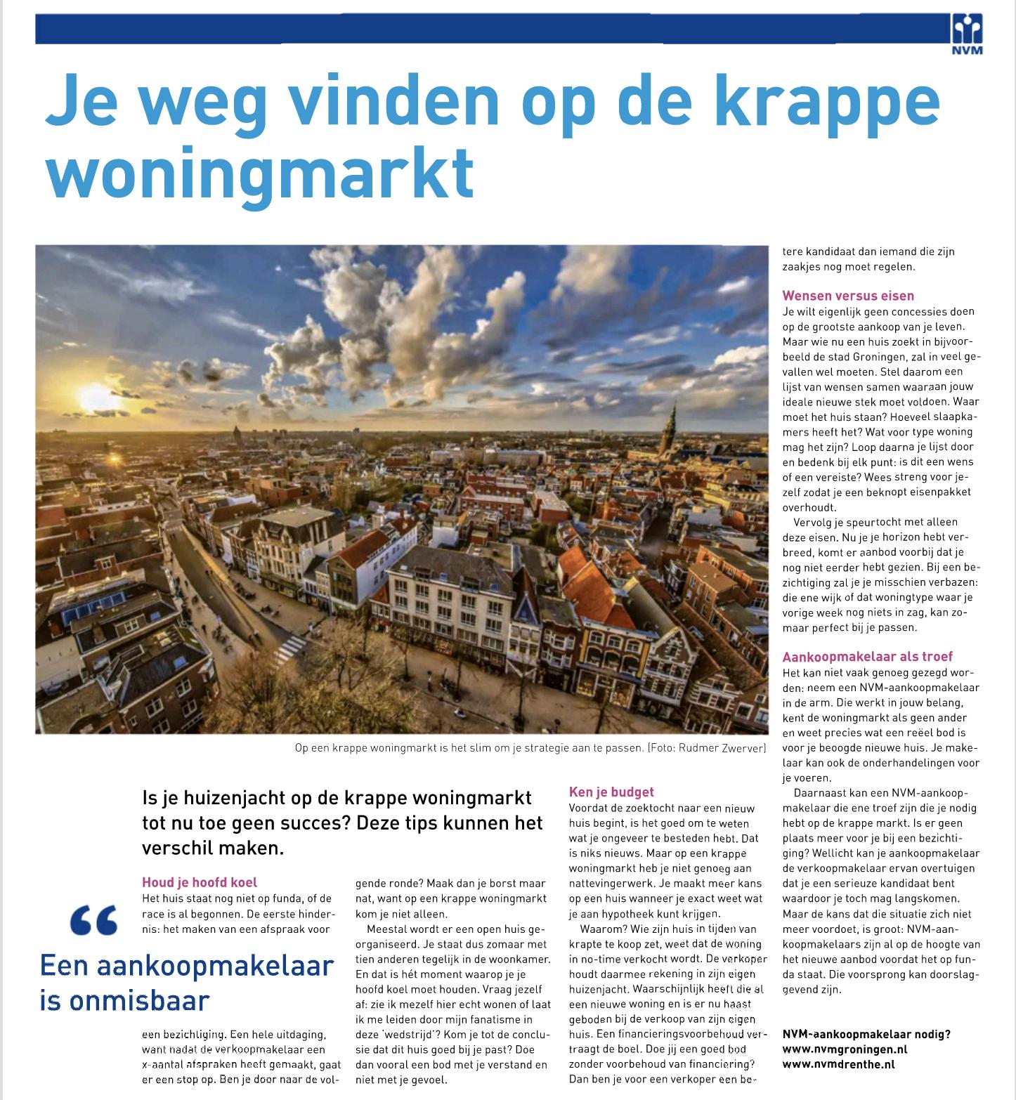 Je weg vinden op de krappe woningmarkt (Dagblad van het Noorden)
