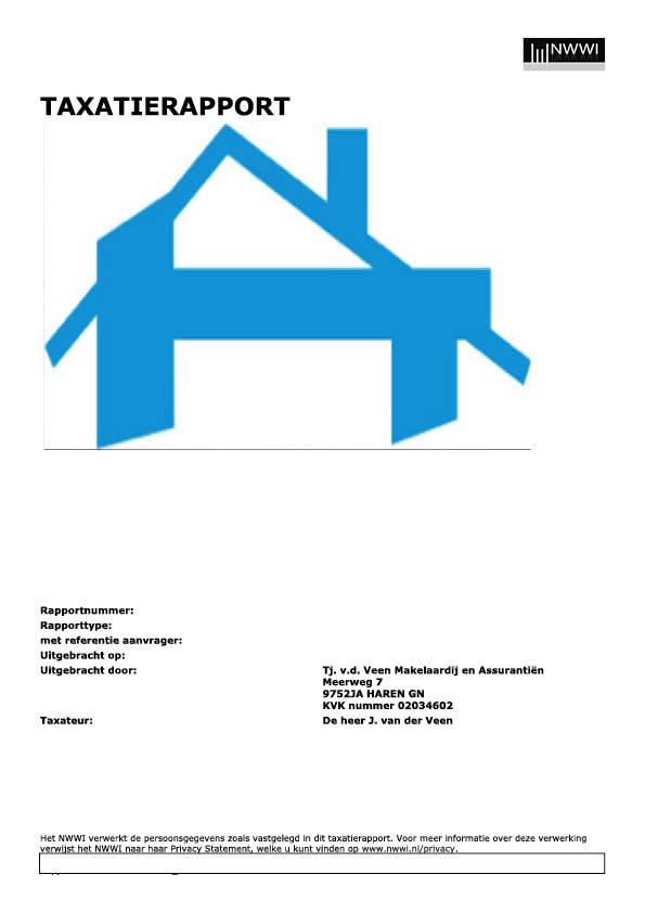 Taxatierapport NWWI Makelaardij Van der Veen