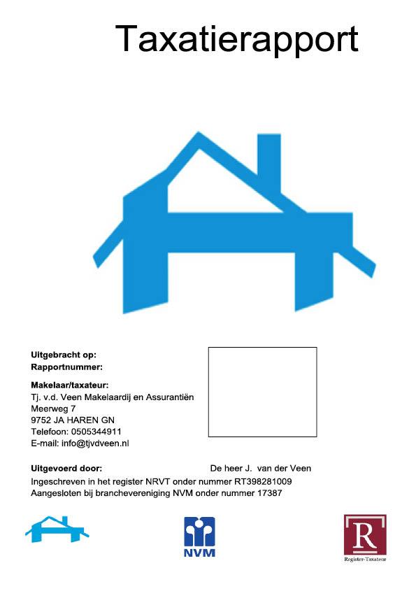 Taxatierapport TaxUnie Makelaardij Van der Veen