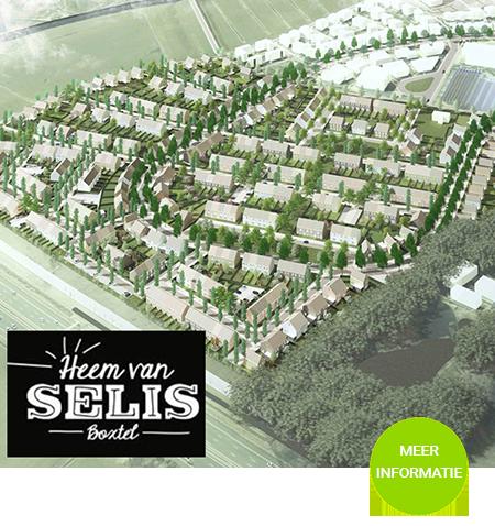 """465 nieuwbouw woningen in het plan """"Heem van Selis"""" in Boxtel."""