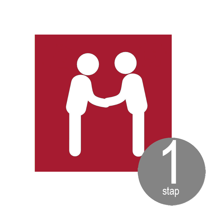 stap 1: vrijblijvende kennismaking