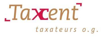 Logo Taxcent taxateurs o.g.