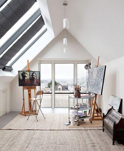 Creatieve zolderkamer