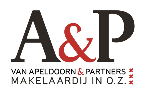 Logo A&P Makelaardij in o.z.