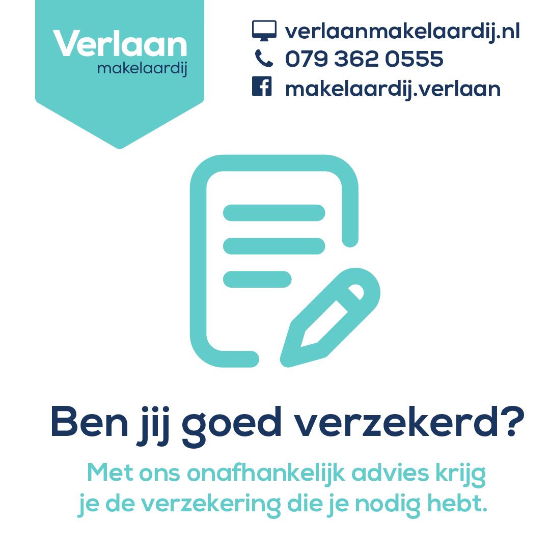 Ben jij goed verzekerd? Licht je verzekering door bij Verlaan Makelaardij te Zoetermeer en je bent weer bij met je verzekeringen.