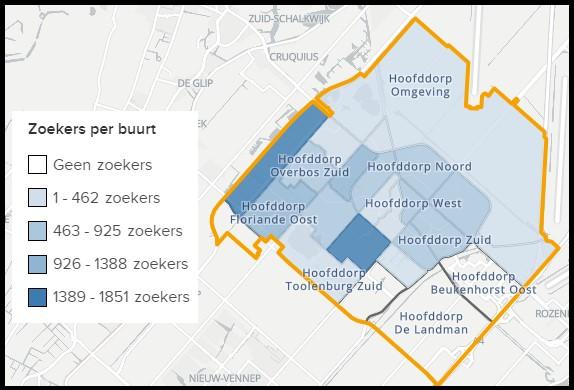Populariteit wijken in Hoofddorp