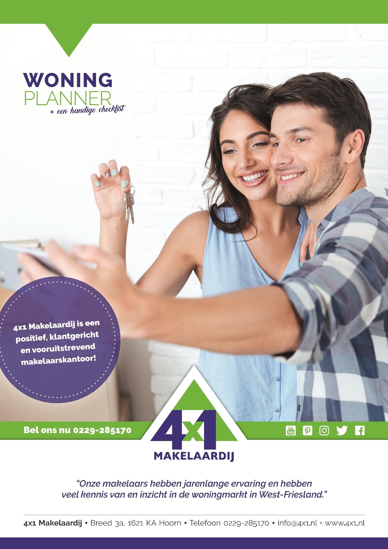 Vraag nu de woningplanner aan van 4x1 Makelaardij en ga goed voorbereid verhuizen