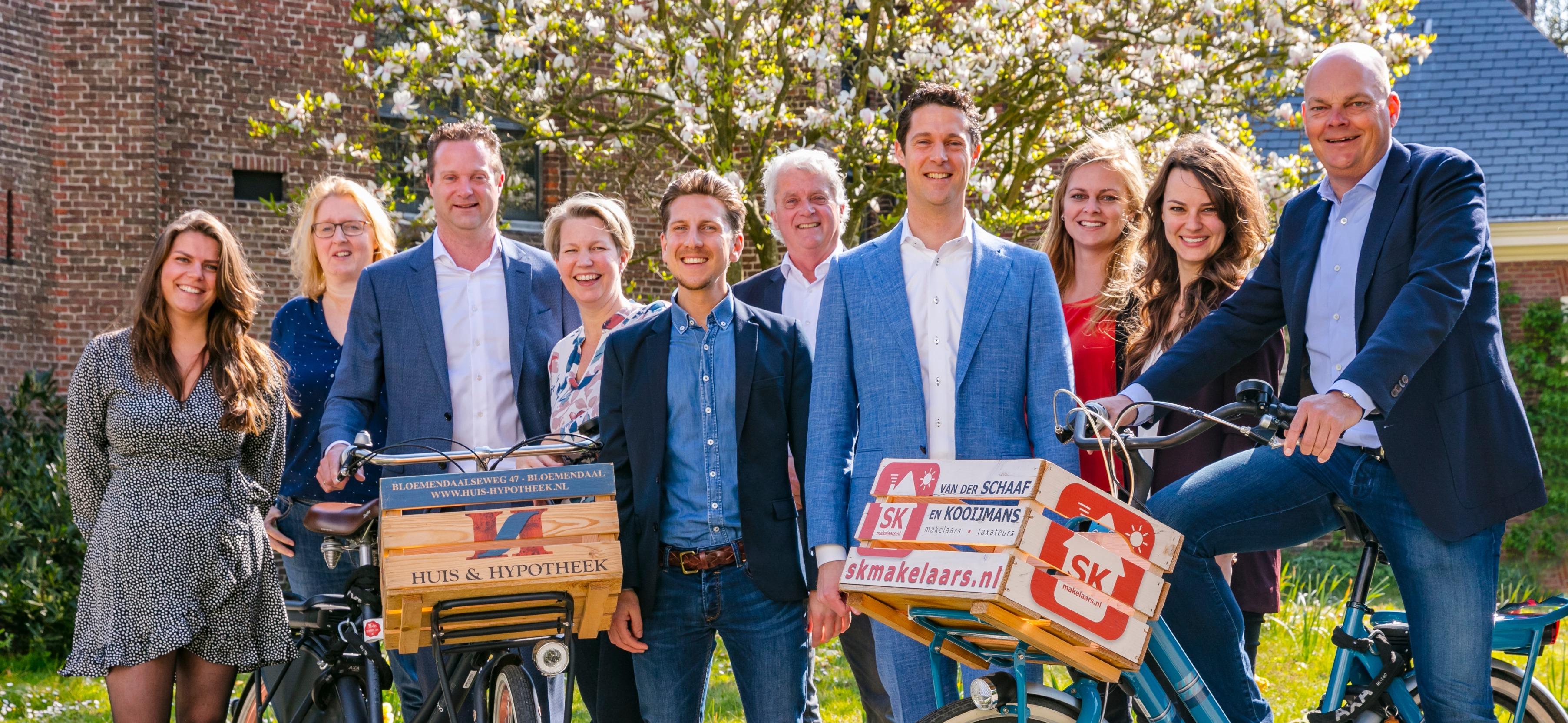Team van der Schaaf en Kooijmans makelaars Haarlem Bloemendaal en omgeving